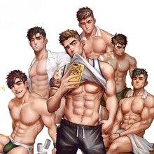 Autocollant de voiture en PVC, autocollant, Sexy, beau garçon Gay, homme, Anime, décor, moto, coffre hors route, guitare, ordinateur portable