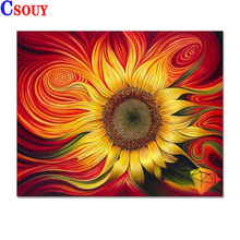 Sunflower Diy Diamond Painting Flowers Diamond Mosaic Drawing Full Square Round Drill Diamond Embroidery Cross Stitch Home Decor sunflower diamond paiting flower diamond painting full cross stitch diamond painting full drill round