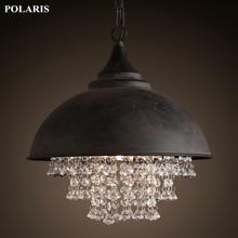 Lampada depoca Loft di Illuminazione Lampadario Moderno Pendente di Cristallo Appendere Le Luci per la Casa Albergo Ristorante Decorazione