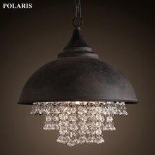 Vintage Lampe Loft Kronleuchter Beleuchtung Moderne Kristall Anhänger Hängen Lichter für Home Hotel Restaurant Dekoration