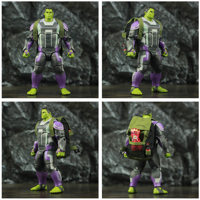 Marvel Avengers Endgame Hulk with Red Infinity Gauntlet and Quantum Suit 8inch. 5