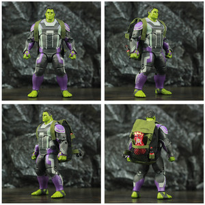 "Image 5 - ZD Spielzeug Avenger 4 Endgame Hulker Quantum Anzug 8 ""20cm Action Figure Movie Robert Bruce Banner Legends Original puppe Modell"