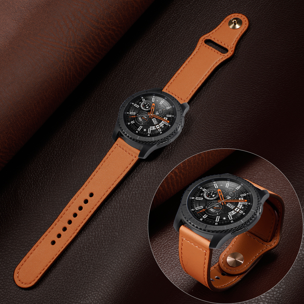 22mm Leather Band For Samsung Galaxy Watch 46mm Strap Gear S3 Frontier Band Huawei Watch Gt Strap Sports Bracelet Watchband 46
