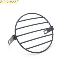 """ZORBYZ """" Ретро Винтаж мотоцикл черный Гриль боковое Крепление Фары Крышка маска для CB400 CB500 на заказ"""