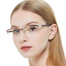 Metal Glasses Frame Women Vintage Eyeglasses Frames Prescription Eyewear Stylish Spring Hinges Optical Spectacle Eye OCCI CHIARI