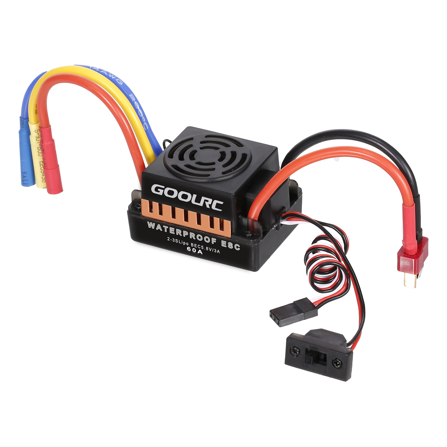 <font><b>GoolRC</b></font> 9T Motor <font><b>3650</b></font> 4370KV Brushless Motor 60A ESC Electronic Speed Controller 5.8V/3A BEC 21T Gear 28 Gear for 1/10 RC Car image