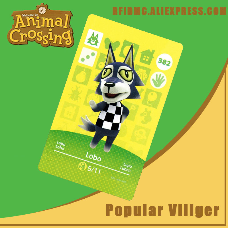 382 Lobo Animal Crossing Card Amiibo For New Horizons