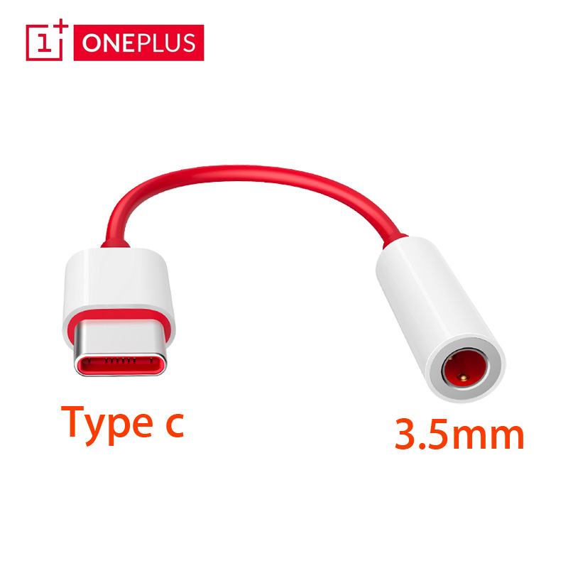Original Oneplus 7T 6T Pro Usb Type C To 3.5mm Earphone Jack Adapter Aux Audio For Oneplus 6t 7T Pro Usb-c Music Converter Cable