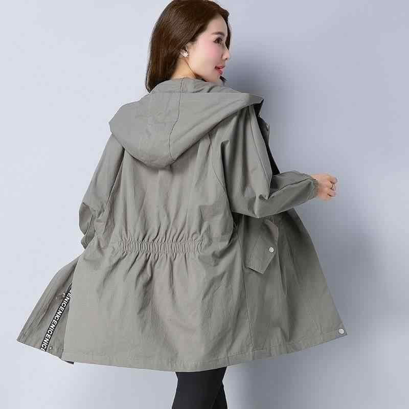 Lange Vrouwelijke Trenchcoat En Najaar 2020 Nieuwe Losse Grote Size Vrouwen Kleding Mode Wilde Vrouwen Windjack