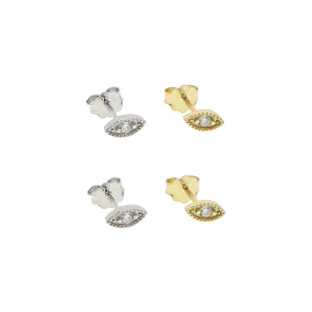 100% 925 Sterling silver cute lovely evil eye stud earring mini small eye stud multi piercing girl women jewelry