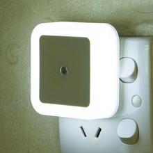 Беспроводной Сенсор светодиодный ночной Светильник С EU US UK вилкой Спальня светильник Wake Up Ночной светильник мини квадратный ночной Светильник s Смарт светодиодный Управление Sens