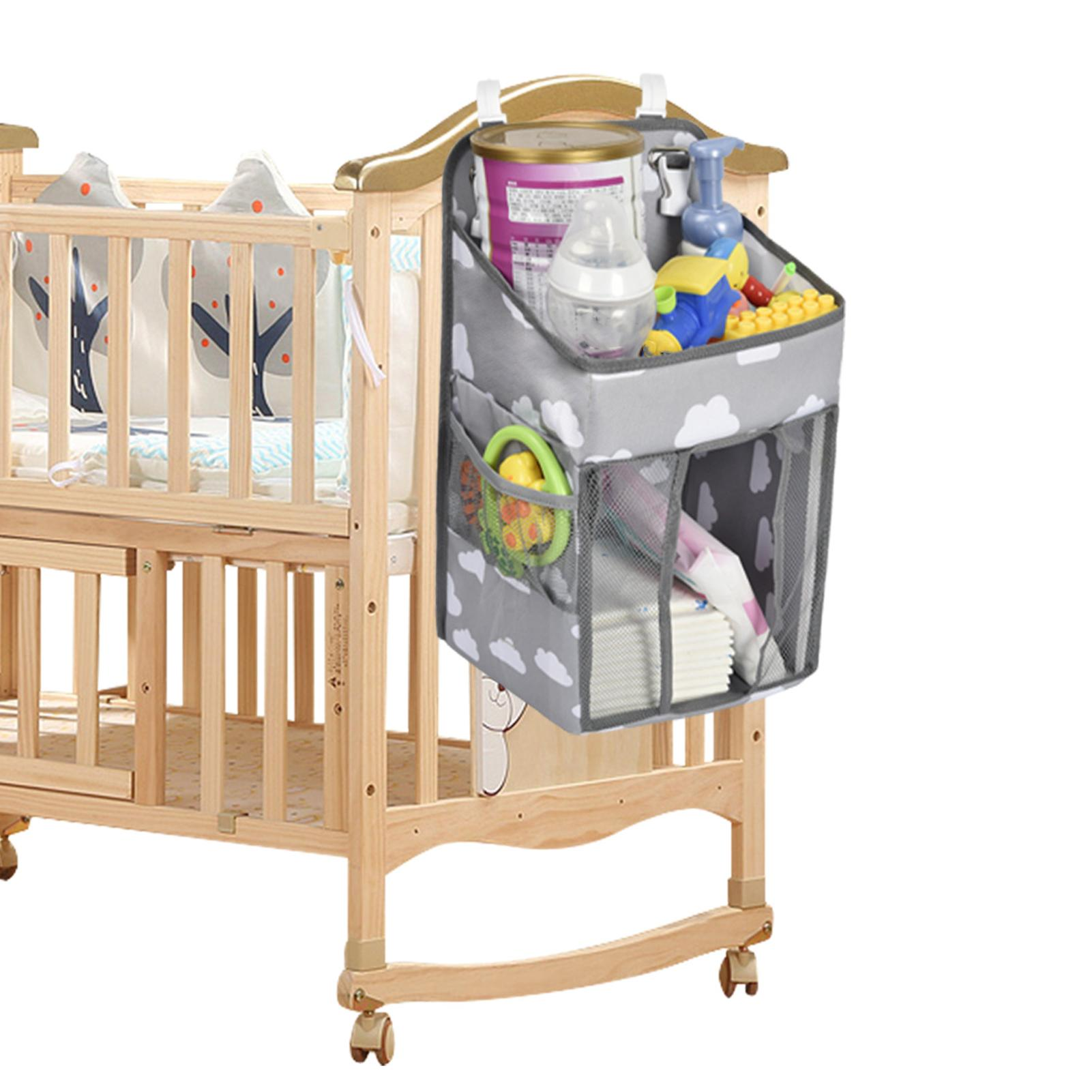 Baby Multifunctional Hanging Storage Bag with Large Capacity Bedside Organizer Infant Baby Essentials Bedding Set Storage Bag