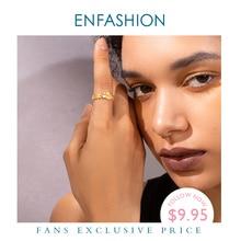 Enfashionパンクリンクチェーンプラットフォームリング男性ゴールドカラーの女性の指輪ファッションジュエリーギフトanillos mujer R194025