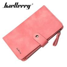 цена Baellerry Wallet Women Business Solid Long Wallet PU Leather Zipper Hasp Porta Hand Bag Smartphone Card Holder Organizer Wallet в интернет-магазинах