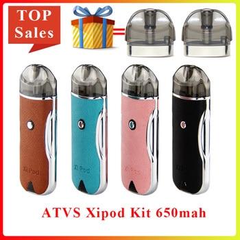 цена на Original Electronic Cigarette pod ATVS Xipod pod Kit 650mah built-in Battery 2ML Cartridge pod Vape Kit vs justfog minifit kit