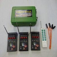 Kommerziellen Licht schwarz Feuerwerk Stag 2021 Neue stil DMX 12 Cues Weihnachten Elektrische Draht Controller Remote CE FCC Bestanden