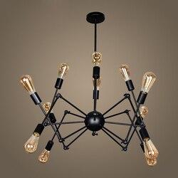 Przemysłowa lampa wisząca pająk nowoczesne oświetlenie  regulowane światło Loft do salonu sklep lampen industrieel w Wiszące lampki od Lampy i oświetlenie na