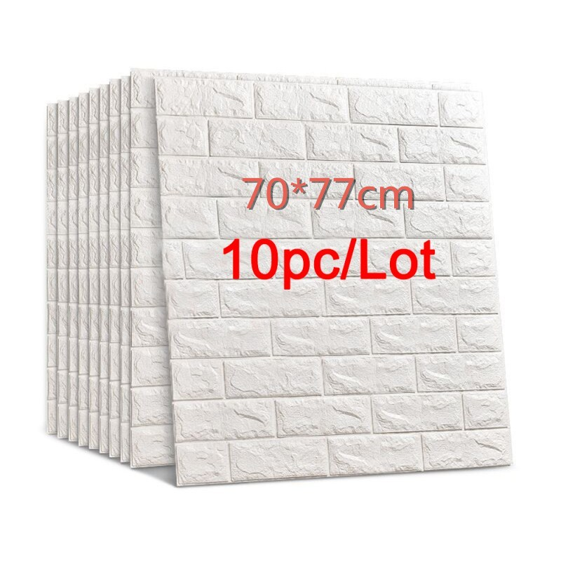 70*77 3D Brick Wall Stickers DIY Self Adhensive Decor Foam Waterproof Wall Covering Wallpaper For TV Background Kids Living Room