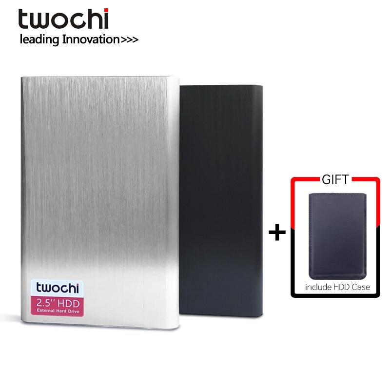 TWOCHI HDD 2.5'' External Hard Drive USB3.0 1TB 750GB 500GB 320GB 250GB 160GB 120GB 80GB Storage Portable Hard Disk For PC/Mac