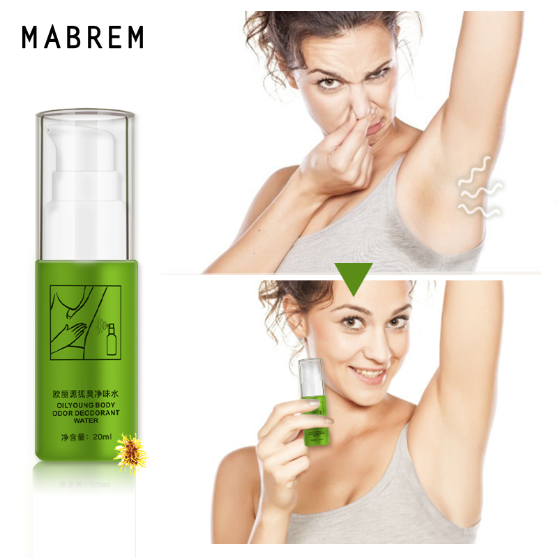 MABREM Removing Body Odor Deodorant Water Summer Antiperspirant Spray Underarm Sweat Deodorization Odor Clean 20 Ml Men And Wome