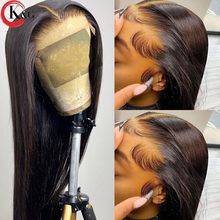 KUNGANG 13*6 Lace Wigs Natural straight T-part Human Hair Wigs Brazilian Front Wigs 150% Density With Baby Hair Non-Remy