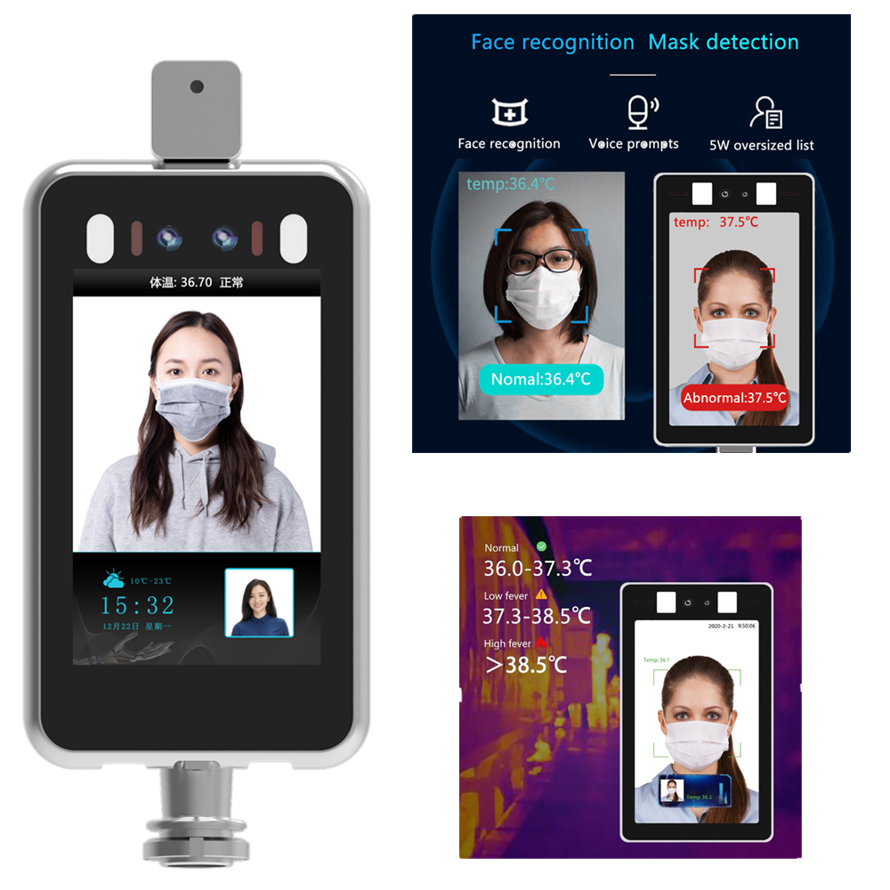 Body Temperature Detector Face Recognition Thermo Camera Access Control Non-contact Fever Imager Thermal Camera With Voice Alarm