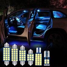 Para kia carens 2012 2013 2014 2015 4 pçs livre de erros 12v lâmpadas led interior do carro luz cúpula leitura lâmpadas tronco luz acessórios