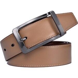 Image 5 - Мужской Реверсивный классический кожаный ремень с вращающейся пряжкой от 85 см до 160 см два в одном от Beltox fine