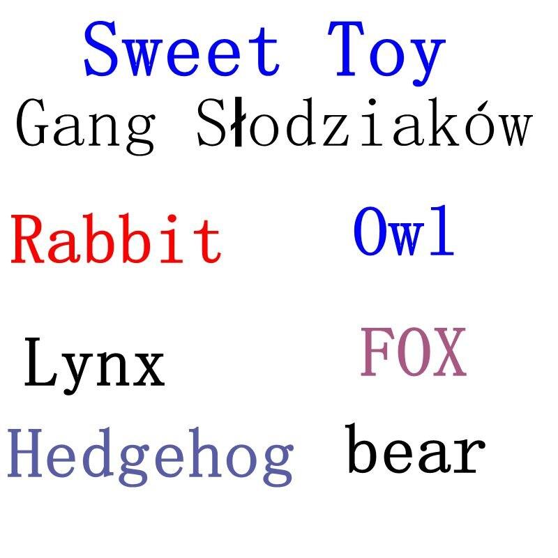 Funny Sweetie Gang Slodziakow Panda Deer Fox Bear Toy Gang Słodziaków Slodziaki Hedgehog Rabbit Stuffed Animals Plush Toy