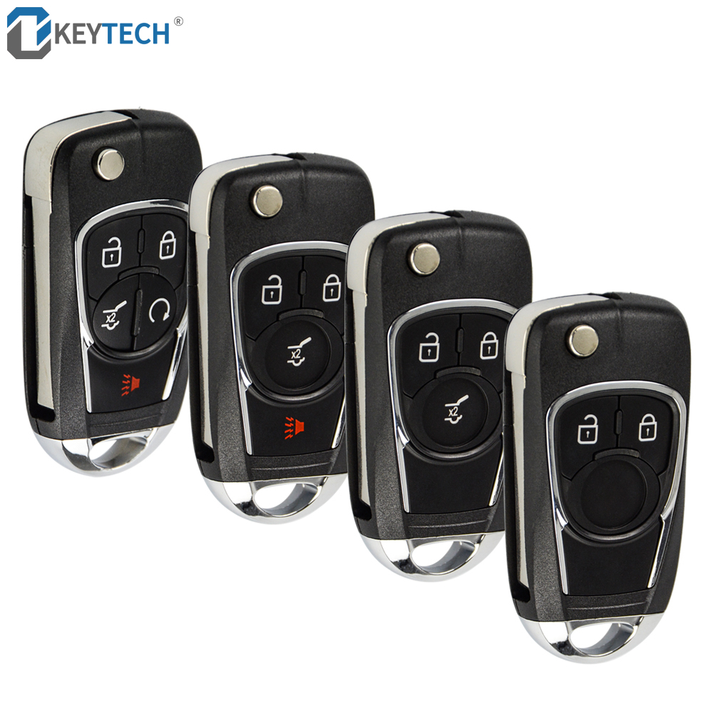OkeyTech Modified Flip Key Shell 2/3/4/5 Buttons For Chevrolet Cruze For Buick For VAUXHALL OPEL Insignia Astra J Zafira C 2