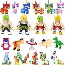 Legoing детские игрушки ТВ Dragon Ball Pony Аниме фигурки детская игрушка кошка электрическая мышь кино, подарки История игрушек 4 комплекта Legoings животные