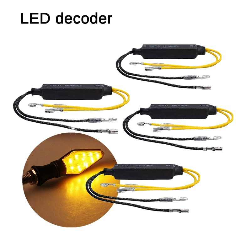 2/4Pcs Motorcycle LED Turn Signal Indicator Decoder Flasher Light Fault Elimination Decoding Resistor For Solve Blinker Error