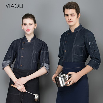 Food Service Breathable cooker shirt long sleeved Restaurant hotel Kitchen chef Uniform Chef Jacket work clothes men and women unisex chef jacket kitchen restaurant uniform shirt summer chef cook shirt apron hat food service bakery hotel work clothes