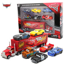 7 Stks/set Disney Pixar Auto 3 Lightning Mcqueen Jackson Storm Mack Oom Truck 1:55 Diecast Metal Car Model Toy Boy kerstcadeau(China)