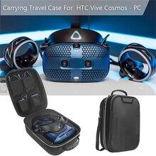 Capa para htc vivência cosmos vr, acessórios, proteção à prova dágua para transporte de carregador