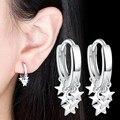 NEHZY 925 Sterling Silber Neue Frau Mode Schmuck Hohe Qualität Ohrringe Goldene Rose Gold Silber Stern Quaste Hoop Ohrringe