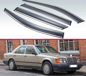 For Mercedes-Benz W124 Plastic Exterior Visor Vent Shades Window Sun Rain Guard Deflector 10 sets