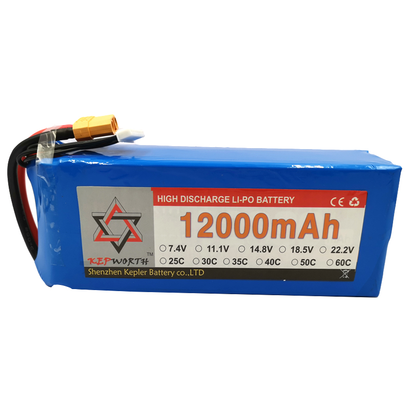 <font><b>3S</b></font> 11.1V RC <font><b>Lipo</b></font> Battery <font><b>12000mAh</b></font> 25C High Capacity For Helicopter Drone Plane Car Toy RC Li-Po Battery High Power image