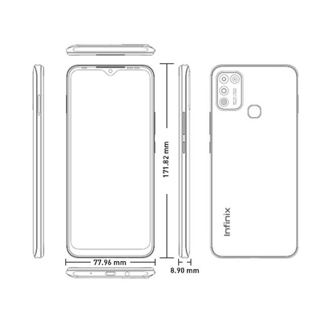 Infinix HOT 10 PLAY Smart Phone Global Version 2GB 32GB 4GB 64GB 6.82'' HD+ Display 6000mAh Helio G25 G35 MobilePhones 6