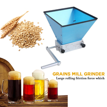 Grains Mill Grinder Malt 2-Rollers Food-Processors Corn Manual Stainless-Steel