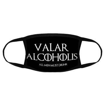 Men Game Of Thrones Valar Alcoholis Dust Mask Cotton Face Arya Stark Alcohol Beer Wine Mashup K012577