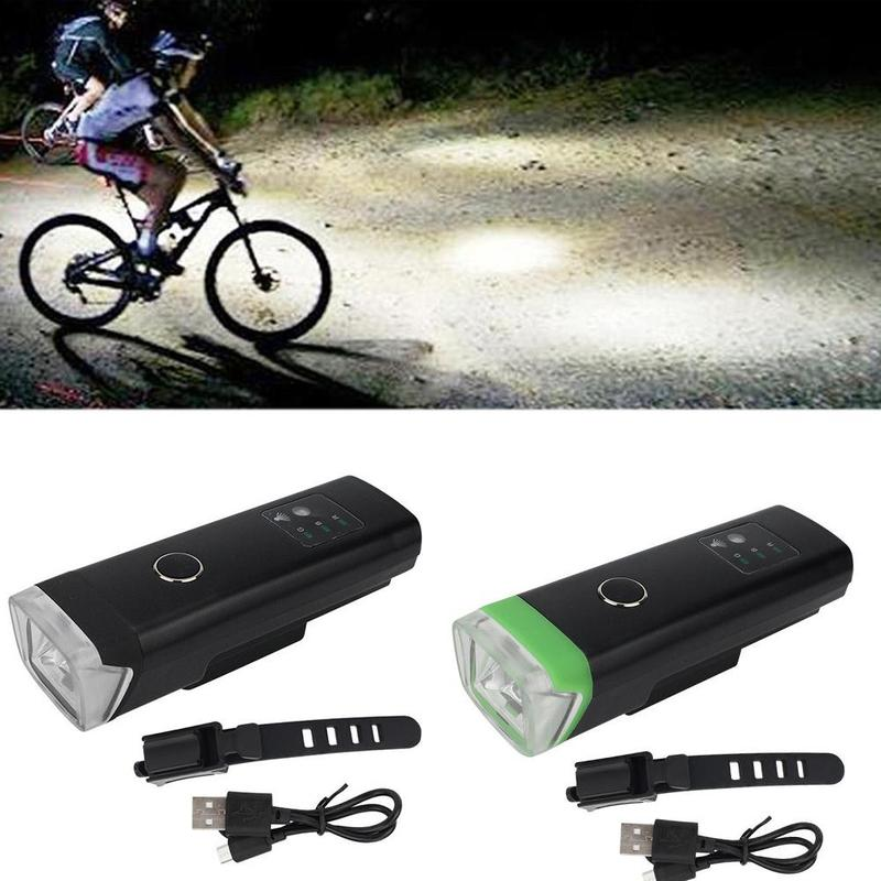 Bicycle Front Headlight Smart Induction Usb Rechargeable Bicycle Headlight Waterproof Mountain Bike Night Riding Equipment