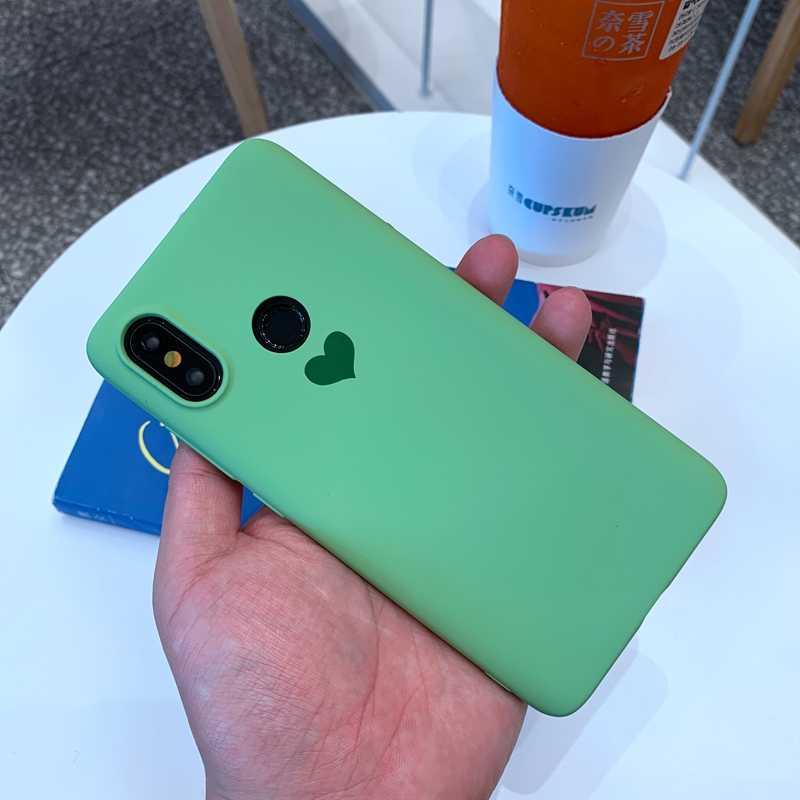 Para Xiaomi mi 9 9T 8 SE A1 A2 A3 Lite Redmi 6 6A Nota 5 7 K20 Pro s2 Color caramelo amor corazón suave TPU funda de silicona