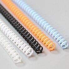 5 шт., 30 отверстий, пластмассовое кольцо для переплета, пружинные Спиральные кольца для 30 отверстий, А4, А5, А6, бумажный блокнот, канцелярские принадлежности, офисные принадлежности