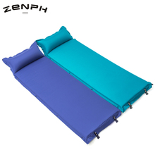 Zenph Inflatable Sleeping Pad Fishing Beach Mat Camping Hiking With Pillow Outdoor Air Mattress