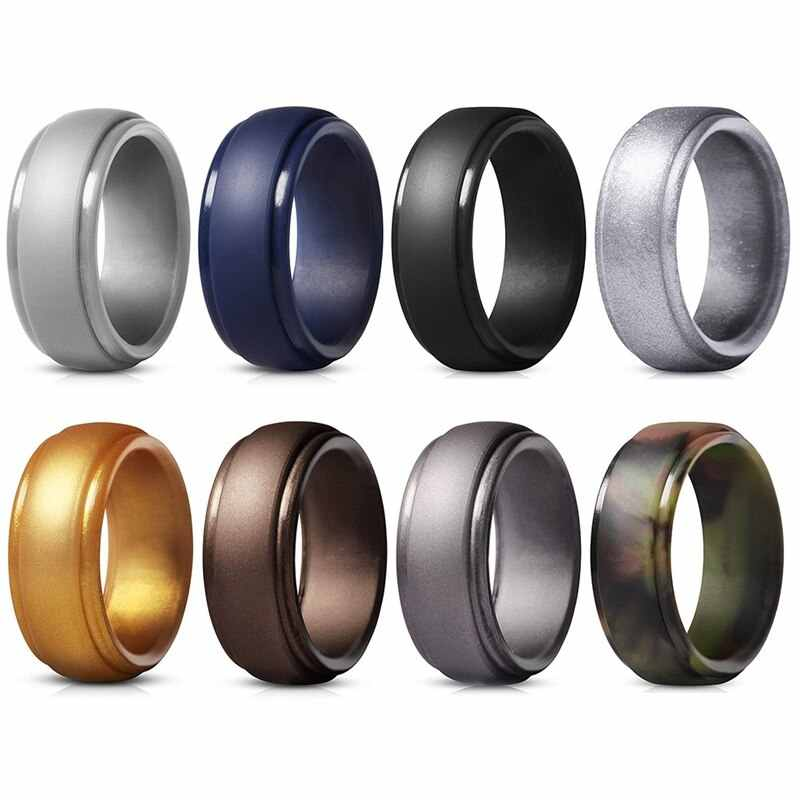 Affordable Steps Silicone Ring Men's and Women's Rings Casual
