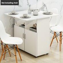 Dobrável mesa de jantar e cadeira combinação moderno simples imitação de madeira maciça cadeira de jantar móvel multifuncional mesa de jantar