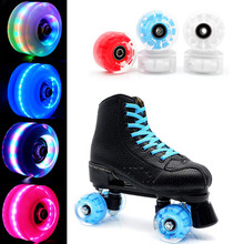 Wheels-Bearings Roller-Blade Skate Flashing-Roller Pop-Quad Luminous Replacement Light-Up