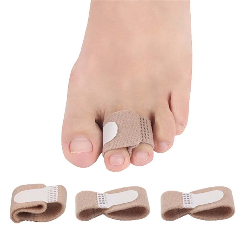 Toe Straightener Toe Hallux Valgus Corrector Toe Separator Splint Wrap Toes Tape Bandage Hammer for Relieve Pain Foot Care Tool