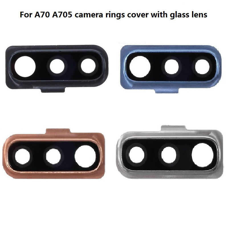 Back Rear Camera Lens Ring Cover With Glass Lens For Samsung Galaxy A50/A50s/A30s SM-A505/A70 A705